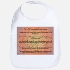 Psalm 23 Orange Script Bib