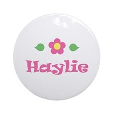 "Pink Daisy - ""Haylie"" Ornament (Round)"