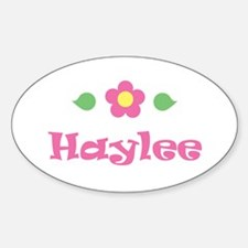 "Pink Daisy - ""Haylee"" Oval Decal"