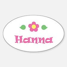 """Pink Daisy - """"Hanna"""" Oval Decal"""
