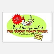 Burnt Toast Diner Rectangle Decal