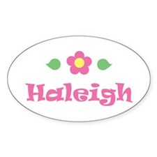 "Pink Daisy - ""Haleigh"" Oval Decal"