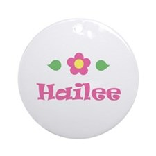 """Pink Daisy - """"Hailee"""" Ornament (Round)"""