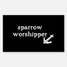 Sparrow Worshipper (circular) Sticker (Rectangular