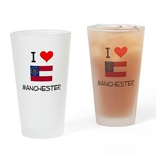 I Love MANCHESTER Georgia Drinking Glass