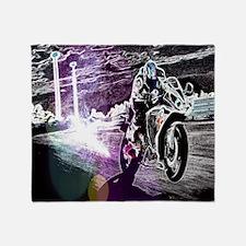 modern sporty motocycle racer Throw Blanket