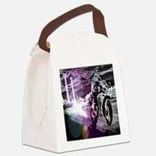 modern sporty motocycle racer Canvas Lunch Bag