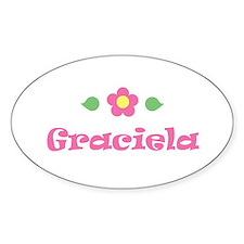 "Pink Daisy - ""Graciela"" Oval Decal"