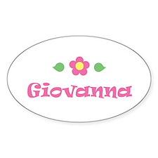 """Pink Daisy - """"Giovanna"""" Oval Decal"""
