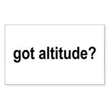 Got Altitude? Rectangle Decal