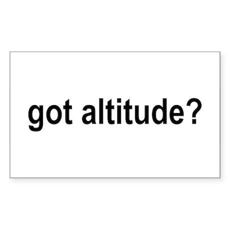 Got Altitude? Rectangle Sticker