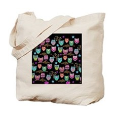 Cute Retro owl Tote Bag