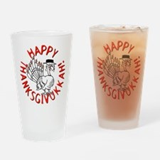 Happy Thanksgivukkah Drinking Glass