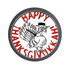 Happy Thanksgivukkah Wall Clock