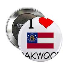 """I Love OAKWOOD Georgia 2.25"""" Button"""