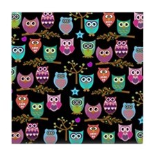 Cute Owls Tile Coaster