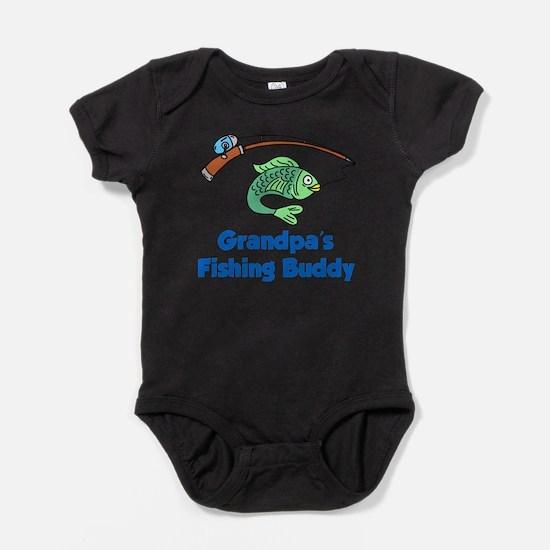 Grandpas Fishing Buddy Baby Bodysuit