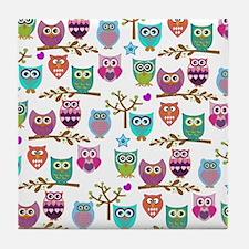 Unique Owl Tile Coaster