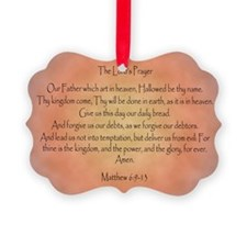 The Lord's Prayer Christian Ornament