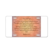The Lord's Prayer Christian Aluminum License Plate