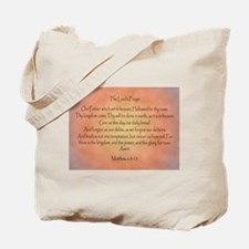 The Lord's Prayer Christian Tote Bag