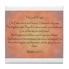 The Lord's Prayer Christian Tile Coaster