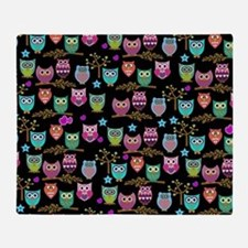 Funny Funky owl Throw Blanket