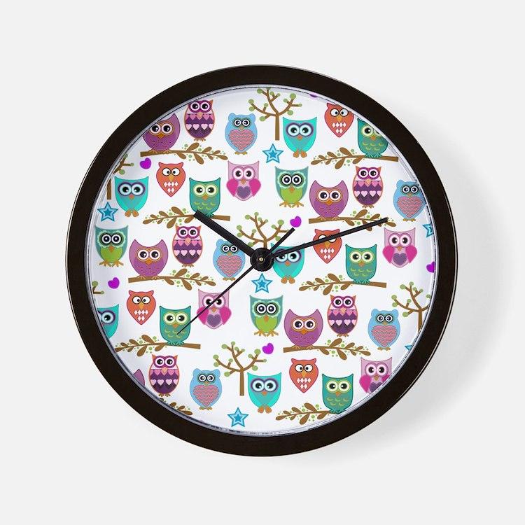 Funky Owl Clocks Funky Owl Wall Clocks Large Modern