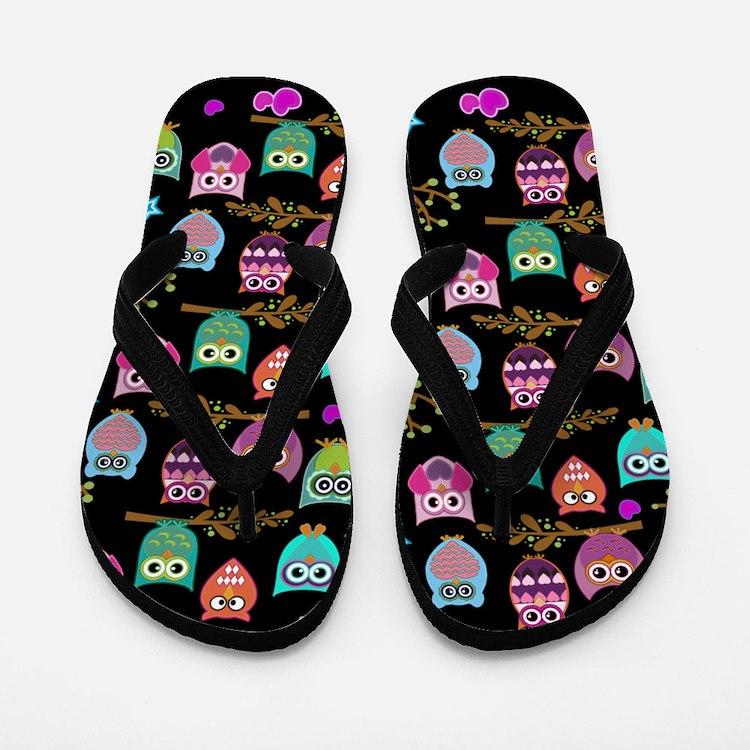 Cute Owl Flip Flops