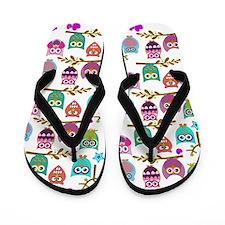 Funny Cute owls Flip Flops