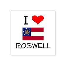 I Love ROSWELL Georgia Sticker