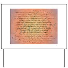 Psalm 91 Orange Script Yard Sign