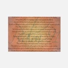 Psalm 91 Orange Script Rectangle Magnet (10 pack)
