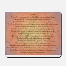 Psalm 91 Orange Script Mousepad