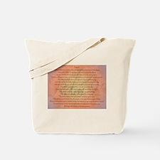 Psalm 91 Orange Script Tote Bag