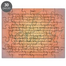 Psalm 91 Orange Script Puzzle
