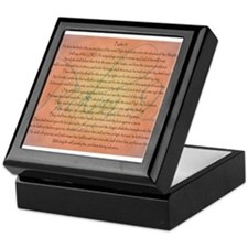 Psalm 91 Orange Script Keepsake Box