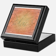 Psalm 91 Orange Script Keepsake Box
