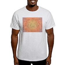 Psalm 91 Orange Script T-Shirt