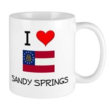 I Love SANDY SPRINGS Georgia Mugs