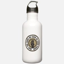 Catching Fire Hand Sign Water Bottle