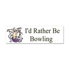 I'd Rather Be Bowling Car Magnet 10 x 3
