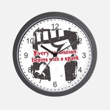 Every Revolution Begins With a Spark Wall Clock