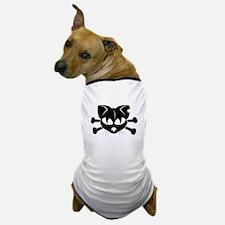 Cat And Crossbones Dog T-Shirt