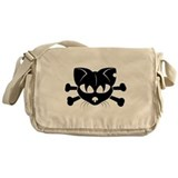 Cat crossbones Messenger Bag