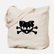 Cat And Crossbones Tote Bag