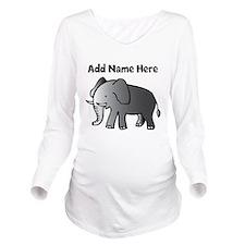 Personalized Elephant Long Sleeve Maternity T-Shir