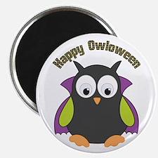 Retro Halloween Dracula Owl Magnets