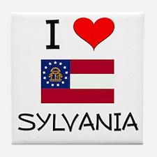 I Love SYLVANIA Georgia Tile Coaster