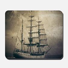 vintage pirate ship landscape Mousepad